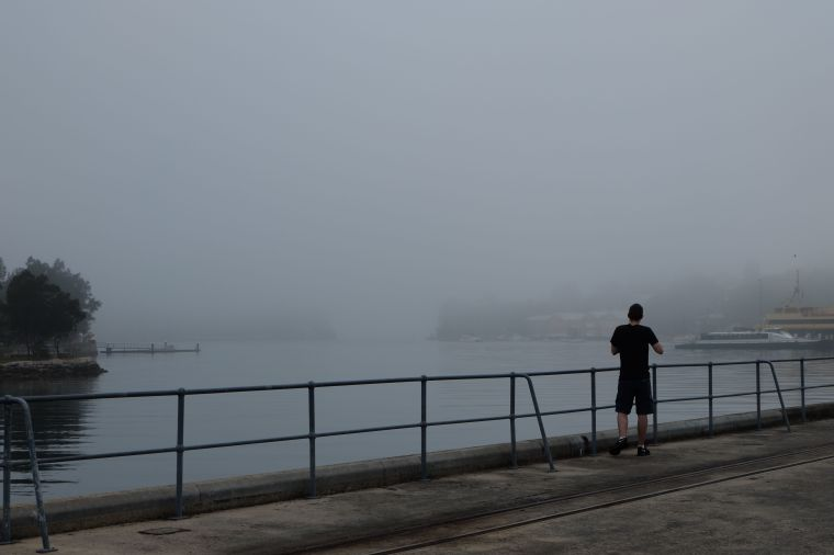 We watched a ferry come in