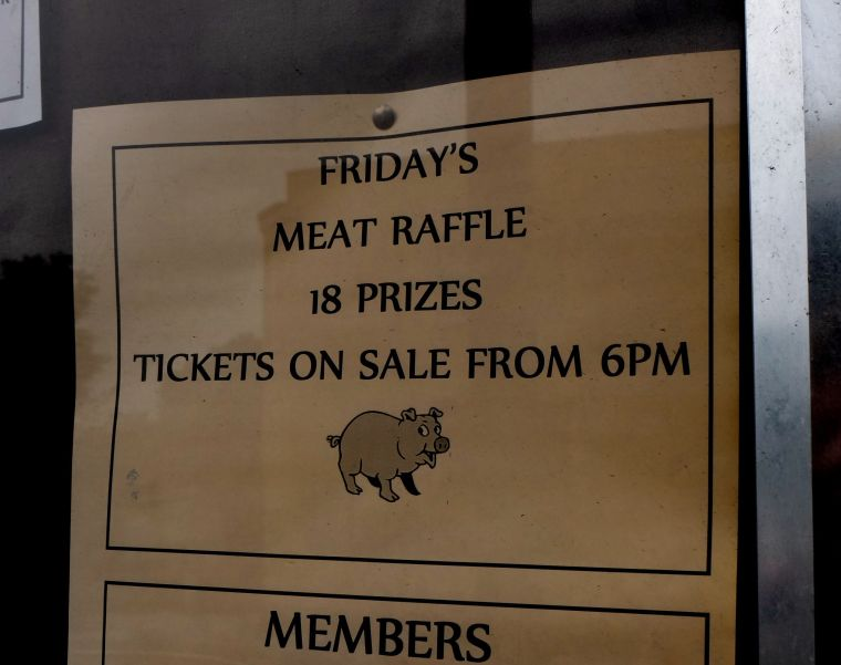 I feel like I'd be betraying my Kentucky/Ohio ancestry by not going to a meat raffle.