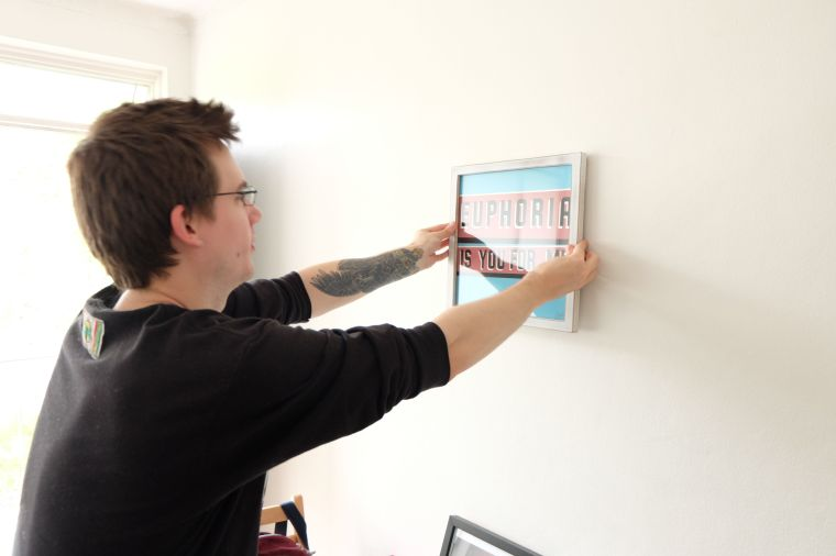 """I got Joel a signed print by Steve """"Espo"""" Powers. It's going to start our gallery wall."""