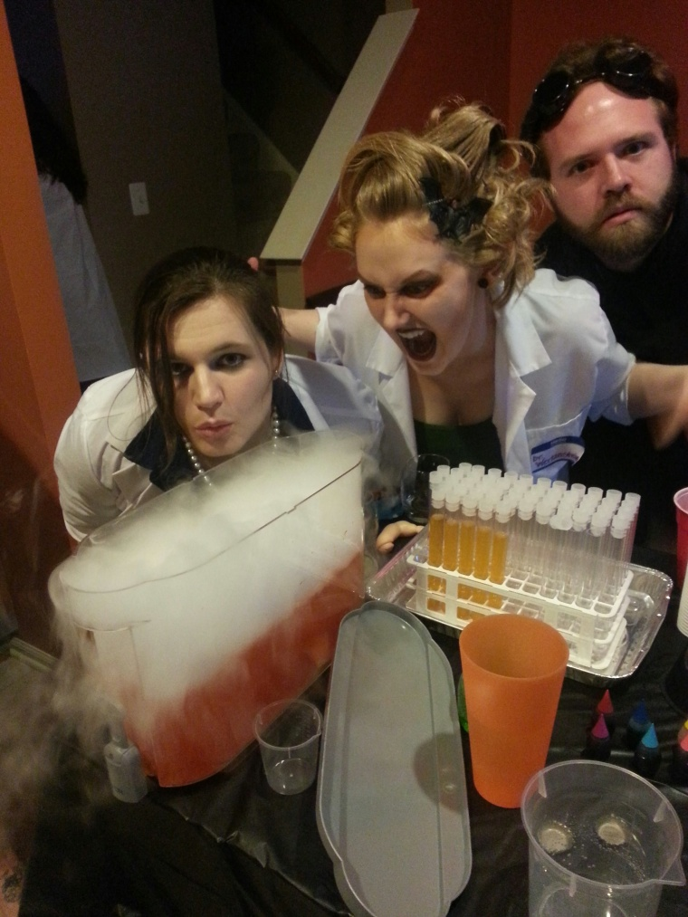 I helped throw a Mad Scientist event. So good.