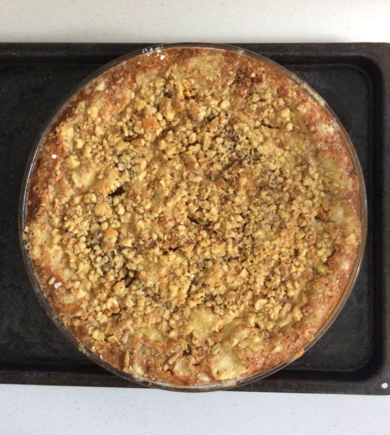 Pumpkin Crunch Pie, in all it's glory. Naomi Judd would be proud.