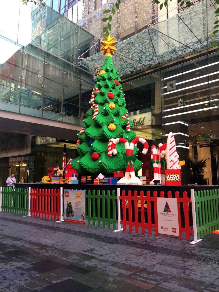 Lego tree on Pitt St. You can see a koala peeking out in the top corner.