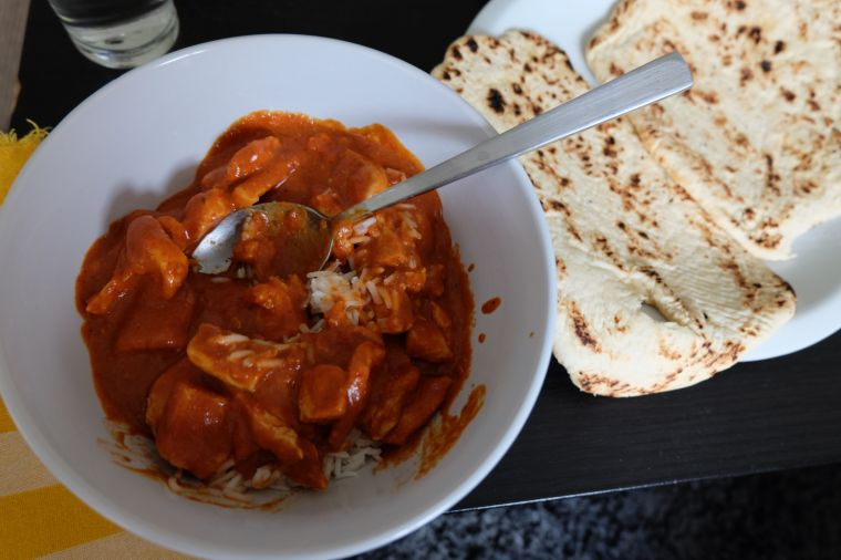 Butter Chicken dinner