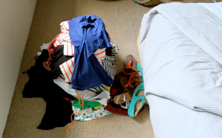 "As noted earlier, that striped hoodie made it's way into the ""saved"" pile."