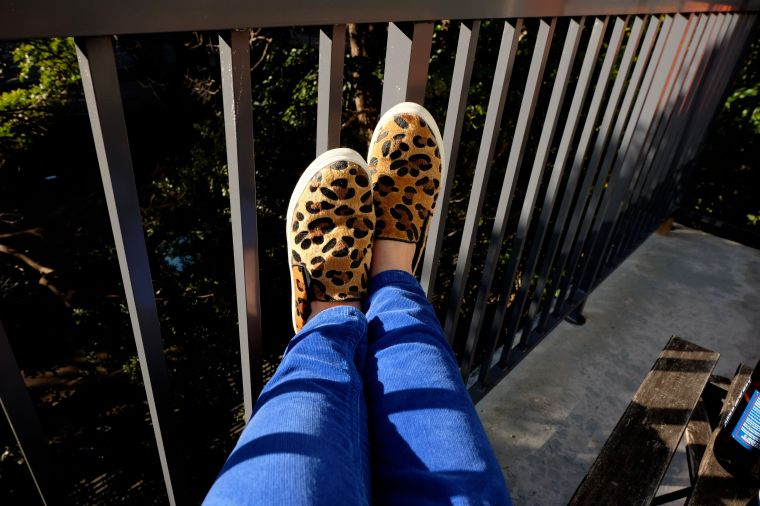 Fuzzy leopard print boat shoes? America.