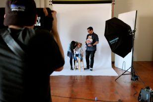 family photo shootin