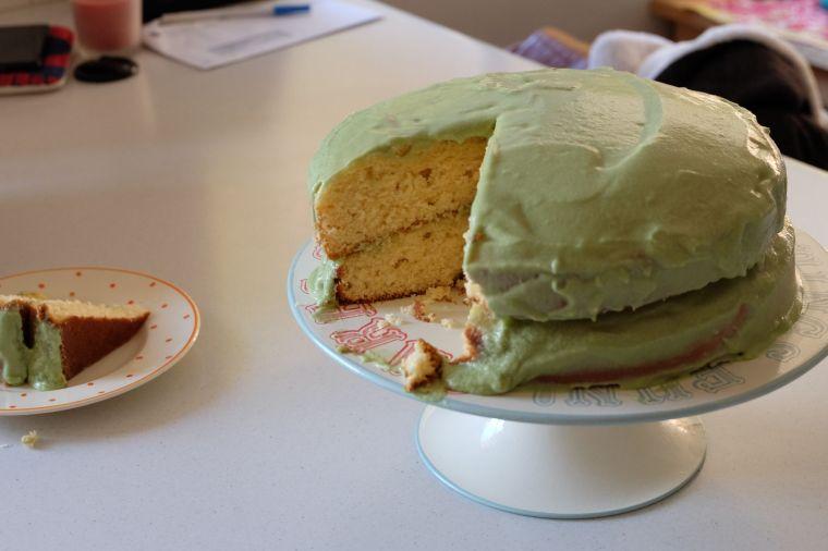 Calamity Cake eating