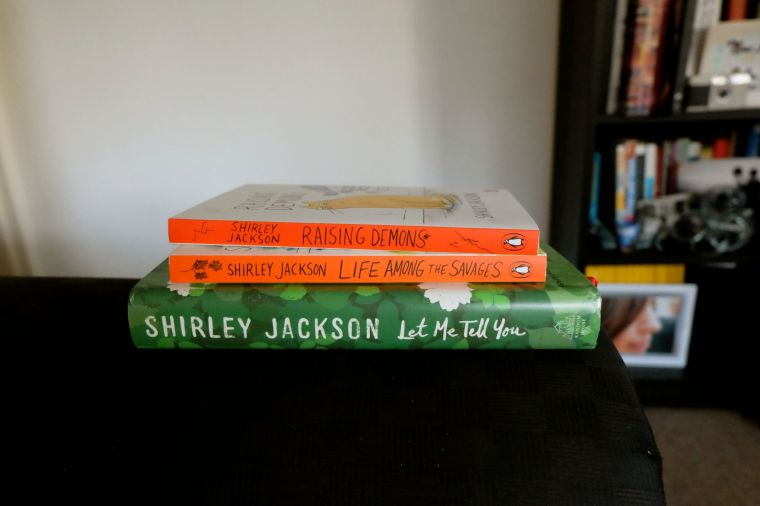 book readin' (what a sweet surprise gift! I've been reading Shirley Jackson since I was 10. love, love, love her, and the SJ bond I share with my mom)