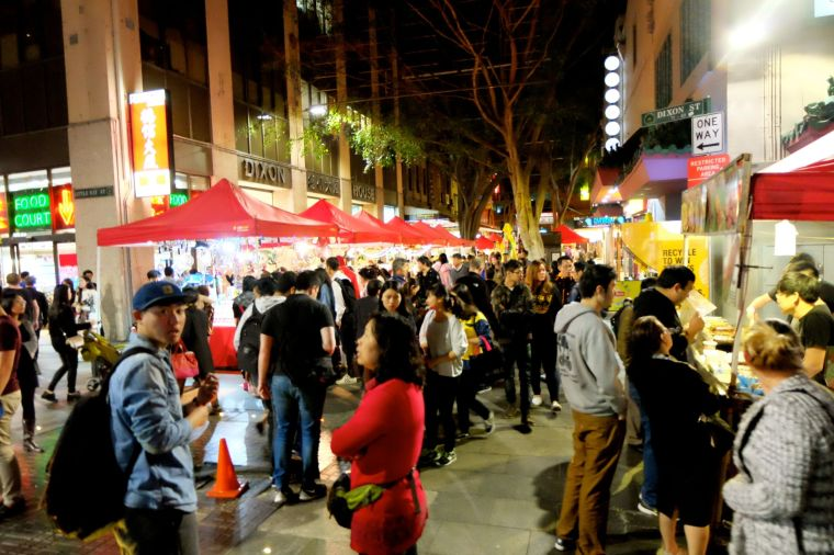 Friday night noodle markets! So much dim sum and booths selling everything you can think of.