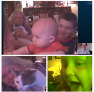 Lots of good Skypes with my friends and family, and I want to plan more for this year