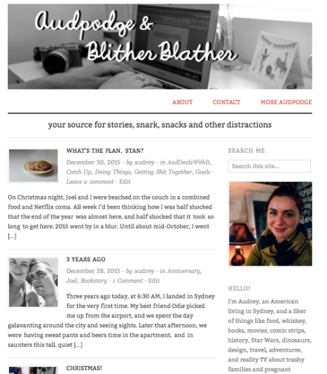 It took 3 months, but I re-vamped and re-named my blog. So happy with the results!