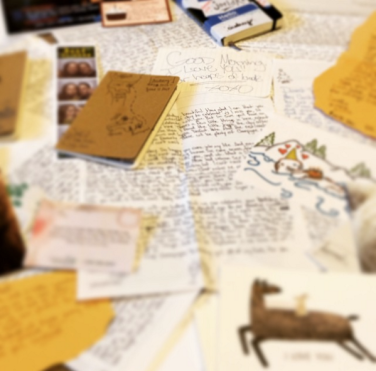 But looking back at all our letters and treasures was fun.