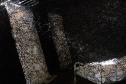 The spider web continued all the way through a three room convict house. It was incredible.
