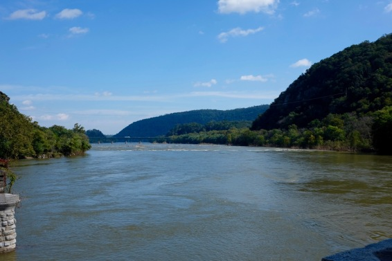 "The confluence of the Shenandoah and the Potomac rivers. ""Confluence"" is my dad's favourite word, apparently."
