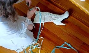 the bride prepares...