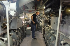 touring the submarine - not an easy feat for the over 5' club.