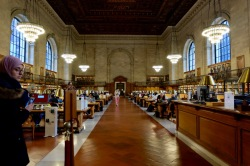 The gorgeous NY Public Library
