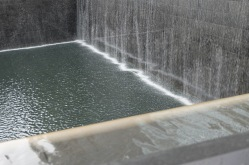 The water fall drowns out all the city noise