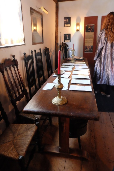 Nearly all the accused witches fates were signed on this table