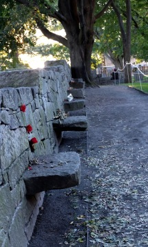 The Witch Trials Memorial. There's a step for every woman and man who were executed.