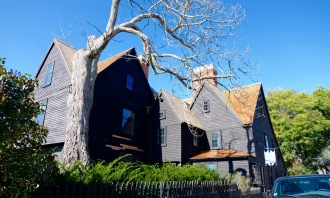 "The famed ""House with Seven Gables"""