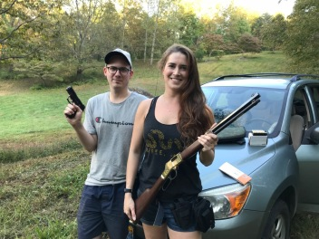 Joel meets Mountain Mama Daron (and my beautiful Henry rifle)