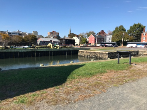 the old wharves of a former shipping town