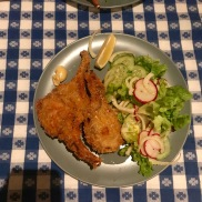 Joel made some choice meals, including rosemary crusted lamb chops and fennel salad