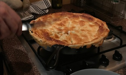 After Friendsgiving, the temperatures dropped, and Joel made a skillet chicken pot pie. He used a Bon Appetit recipe that called for turnips instead of carrots (it was amazeballs)