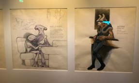 The first part had us choose our Species. Joel chose Mon-Calamari (squid man), and I chose a Kel-Dor (looks like a predator). Each part of the exhibit had original concept art for different characters.