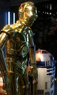 and the most famous droids (looking kinda hunched over and sad, btw)