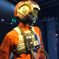 Enjoy this Rebel Fighter costume, complete with wooden buttons. Ah, the 70's.