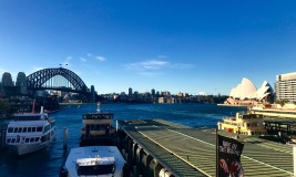 I never get tired of the view from Circular Quay train station