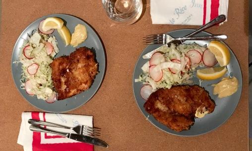 Punch Drunk Chicken and fennel/radish salad - the best