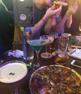 pizza and cocktails - and VHS table numbers